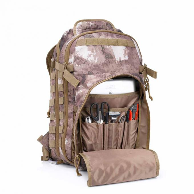 Hiking Tactical Day Pack Nylon 45L With Molle System , Tactical Rucksack