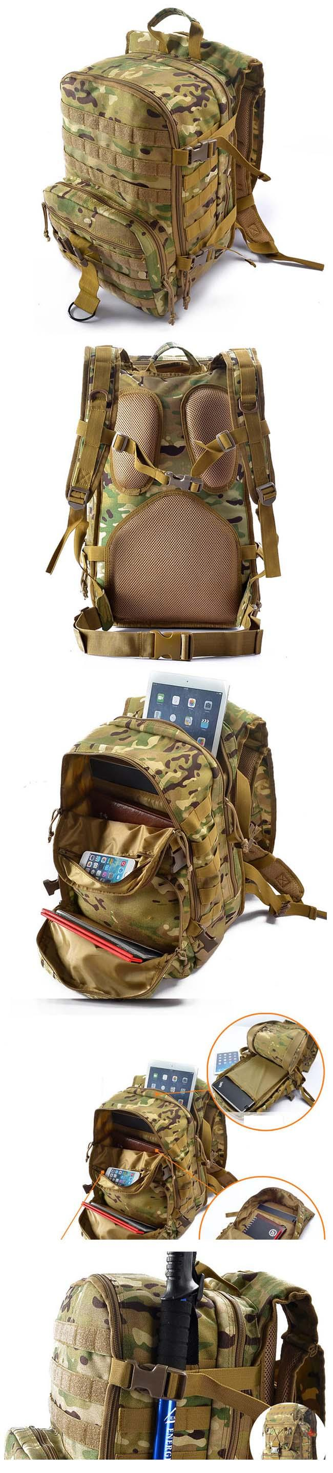 Folding Woman Small Army Backpack Camouflage Lightweight With Shoulders