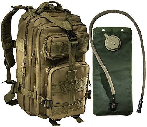 brown tactical military bags