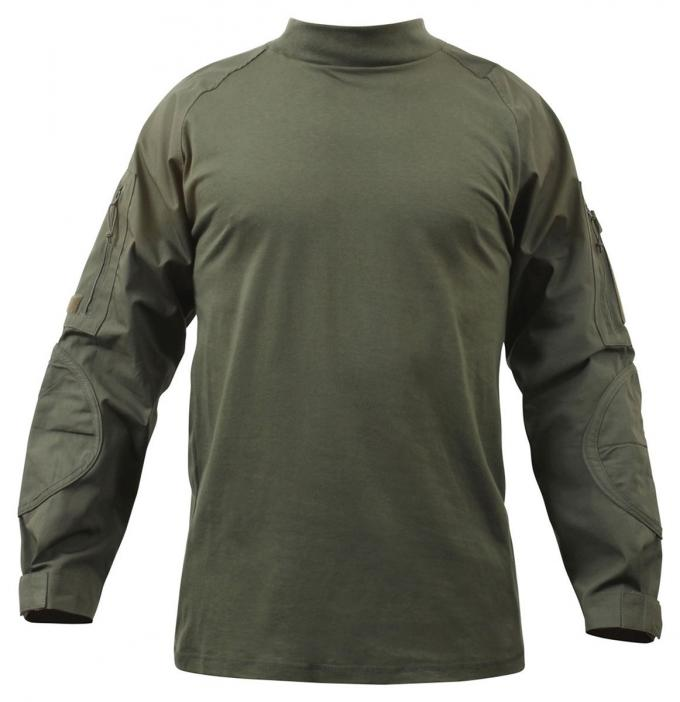 Digital Woodland Tactical Combat Shirt Breathable Polyester Fabric