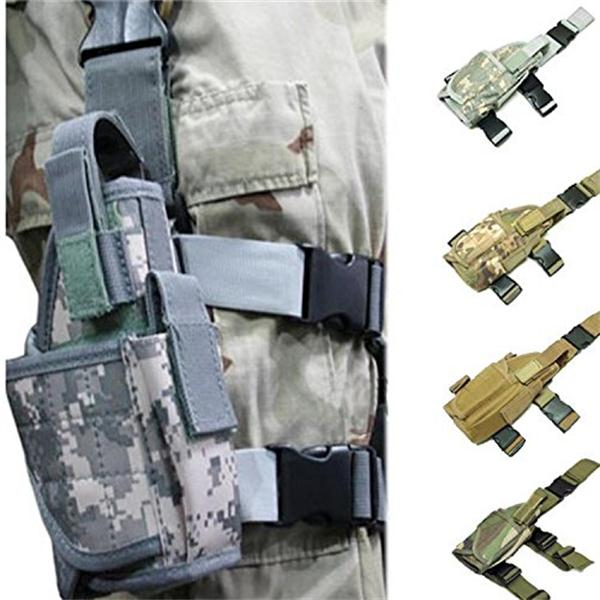 Puttee Thigh Concealed Carry Holsters For Women , Army Gun Holster