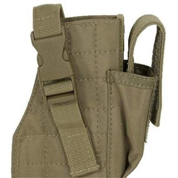 Pistol Left Handed Drop Leg Holster Attached Magazine Pouch ODM Service