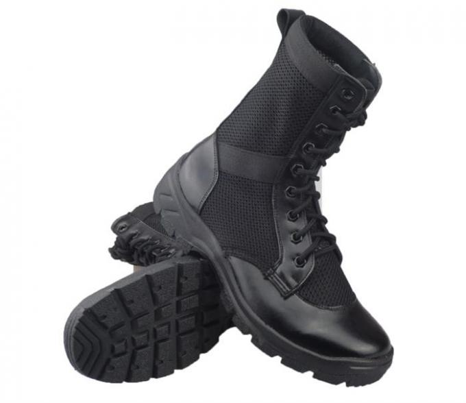 Breathable Mesh Leather Military Tactical Boots For Training Special Forces