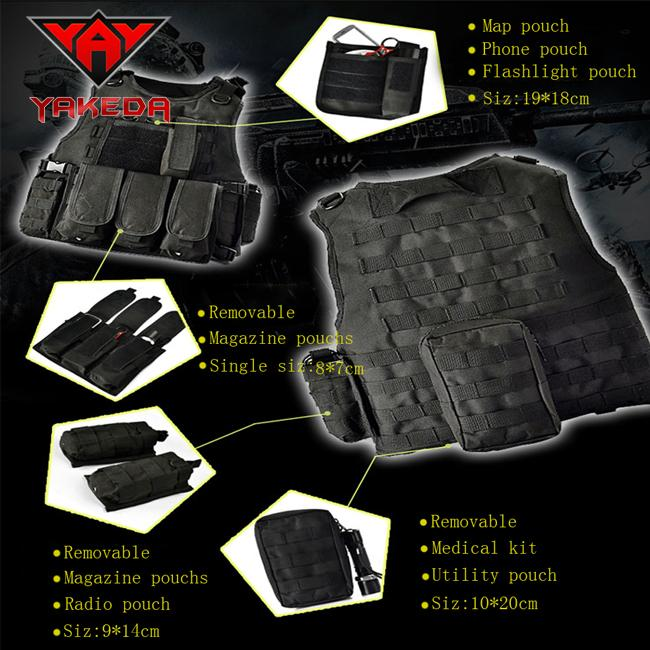 Tactical Airsoft Paintball Swat Molle Army Military Combat Assault Hunting Modular Police Vest