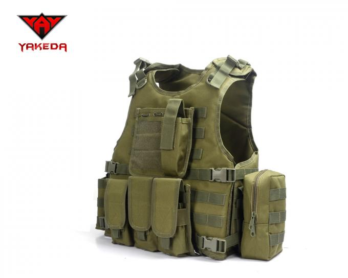 Comfortable Military Bulletproof Vest , Molle Airsoft Paintball Plate Carrier