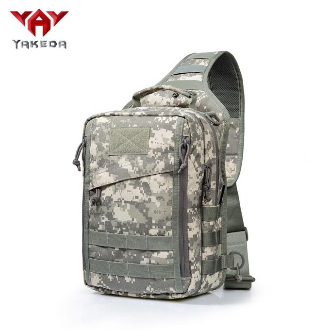 Outdoor Small Tactical Sling Pack for Handgun With Multiple Zippered Pockets