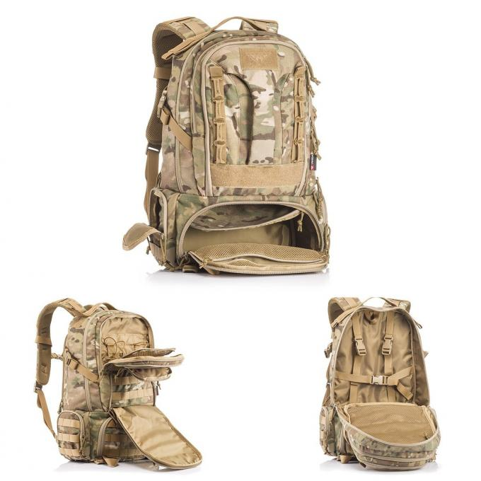 Military Hiking Mountain Climbing Backpack / Tactical Outdoor Rucksack For Trekking