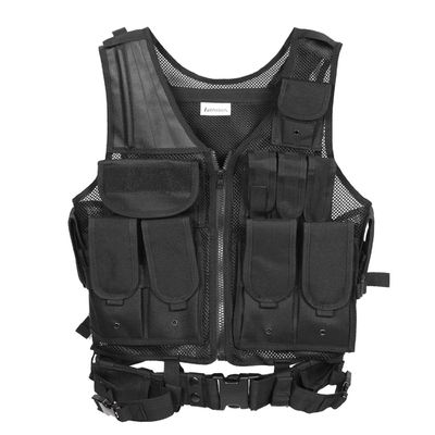 Black Nylon Armor Tactical Gear Vests Bulletproof with Breathable