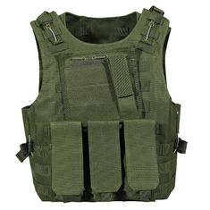 Police Camouflage Tactical Vest with different size's Magazine bag