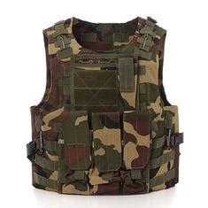 Military Swat Tactical Gear Vest Assault Airsoft For Police Holster