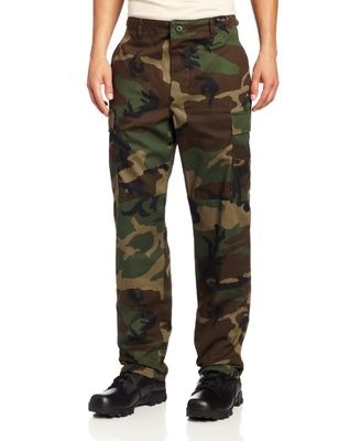 Comfortable Military Cargo Pants Polyester Cotton Wrinkle Resistant