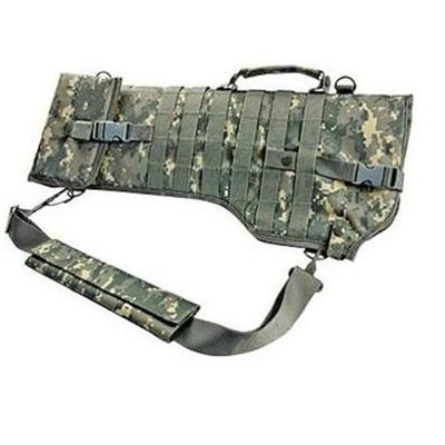 24 Inch Tactical Double Rifle Case , Camo Molle Gun Case Scabbard