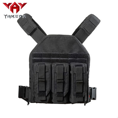 Black 1000D nylon Adjustable Tactical Gear Vest For Combat Training