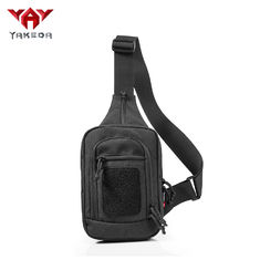 Durable Black Nylon Tactical Sling Bag , Cross Body Gun Backpack