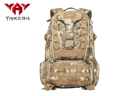 China Military Hiking Mountain Climbing Backpack / Tactical Outdoor Rucksack For Trekking supplier