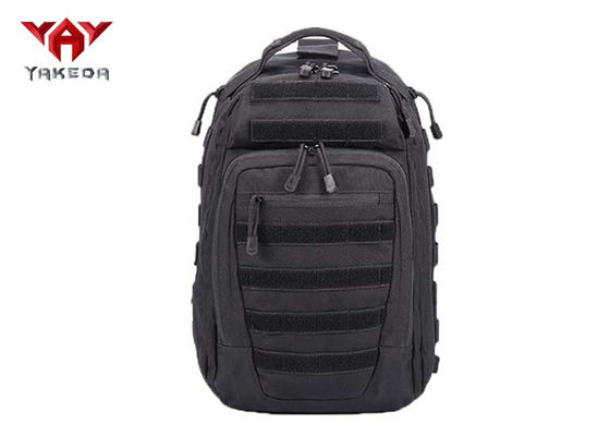 Durable Outdoor Travel Black Tactical Day Pack Customized Logo 30L - 40L Capacity