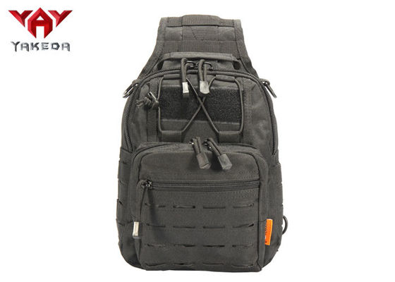 Rainproof Laser Cut Outside Hiking Tactical Sling Bag PP Webbing Size 24*17*27.5CM
