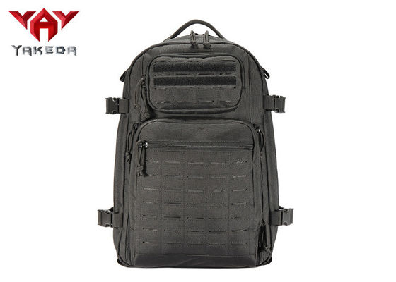 Black Outdoor Adventure Backpack For Leisure Climbing / Hydration Camping