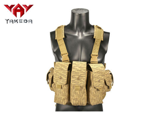 China Military Light AK Combat Training Chest Rig Vest / Army Molle Swat Tactical Gear Vest supplier