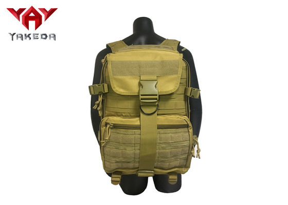 PVC Military Grade Laptop Tactical Day Pack / Molle Trekking Backpack