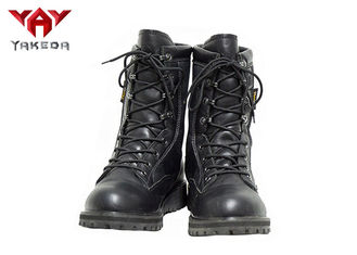 Leather Breathable Combat Hiking Military Boots For Men Flat Low Heel