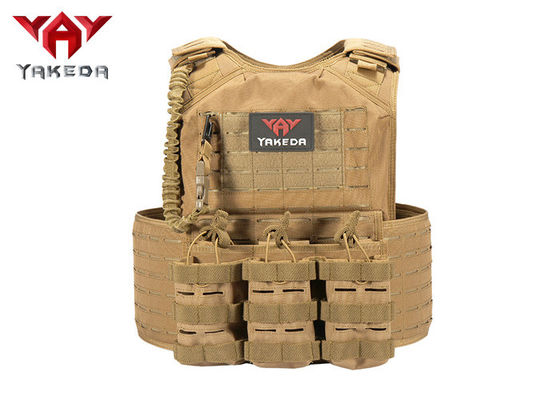 China Laser Cutting Army Military Tactical Vest , Swat Combat Training Ballistic Bullet Proof Vest supplier