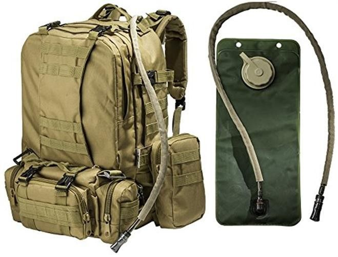 60ca714c854 2.5L Tactical Hydration Backpack Hydration Water Bladder With 3 Molle Bags